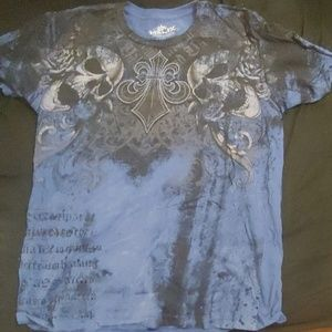 L blue Helix shirt